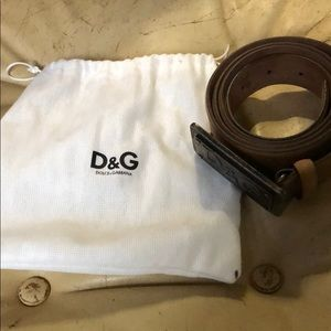 DOLCE AND GABBANA Men's brown belt NEVER WORN